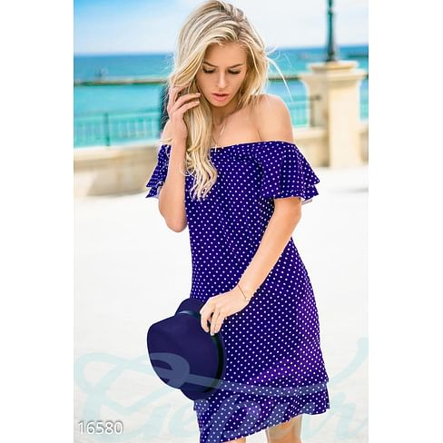 Платье в горошек Calipso
