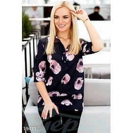 Шифоновая блуза с цветами On the go