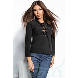 Блуза со шнуровкой Sparkle