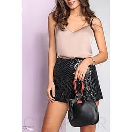 Кожаная сумка-кисет Dress time