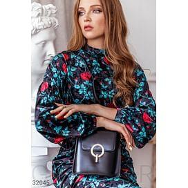 Вертикальная кожаная сумка Leather trend
