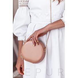 Кожаная круглая сумка Leather trend