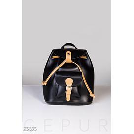 Контрастный кожаный рюкзак Gpr forward