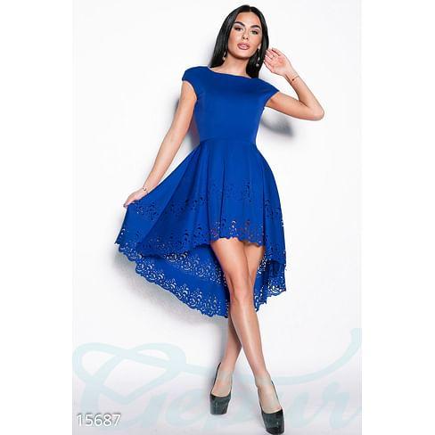 Ассиметричное перфорированное платье Flawless