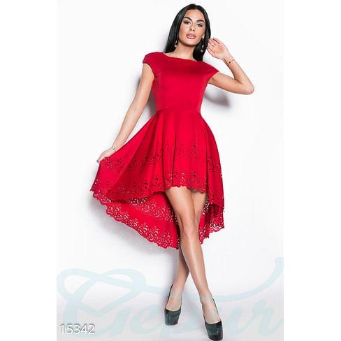 Яркое асимметричное платье Flawless