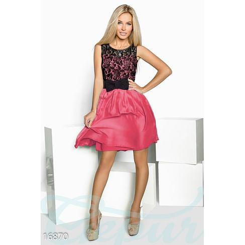 Шифоновое мини-платье Mix