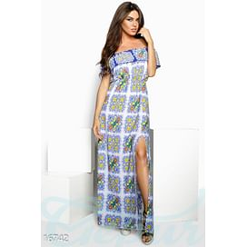 Шифоновое платье-макси Mix