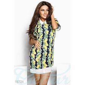 Платье с лимонами Mix