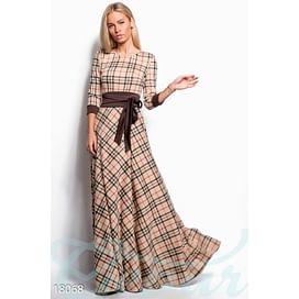 Длинное платье в клетку Vibe