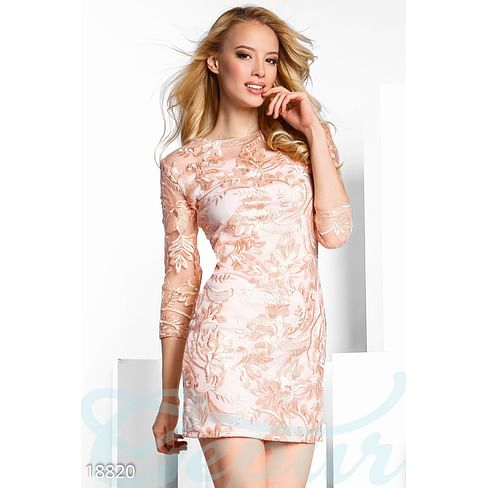 Праздничное вышитое платье Let it snow!