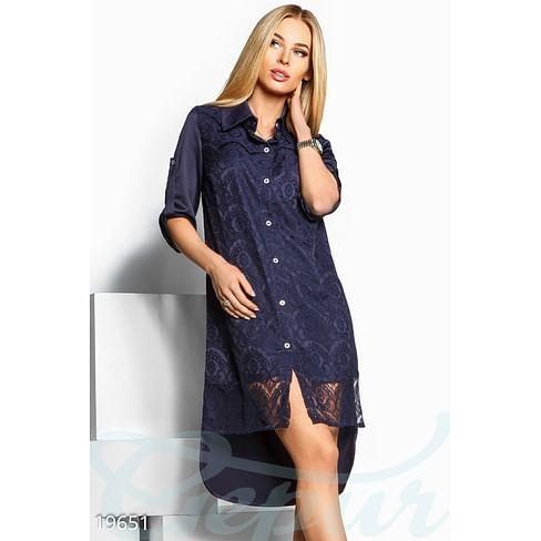 Шелковое платье-рубашка Sparkle