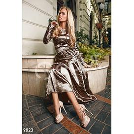 Изящное атласное платье Bohemian