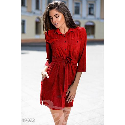 Замшевое платье-рубашка Symbol