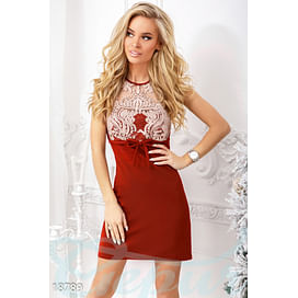 Коктейльное платье с вышивкой Silk