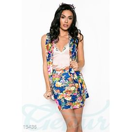 Стильный цветочный костюм Fabulous