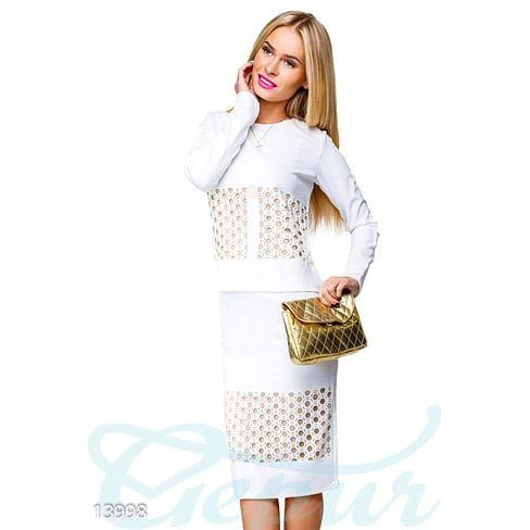 Перфорированный женский костюм Lady