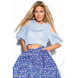 Летняя укороченная блуза Variety