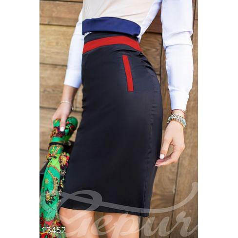 Контрастная юбка-карандаш Velvet