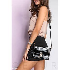Лаковая сумка-messenger Dress time