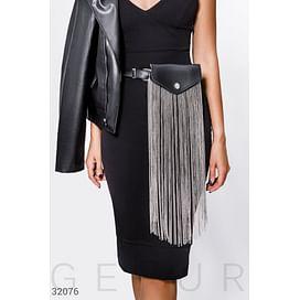 Набедренная сумка с декором Leather trend