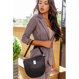 Черная структурированная сумка Leather trend