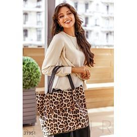 Сумка в леопардовый принт Leather trend