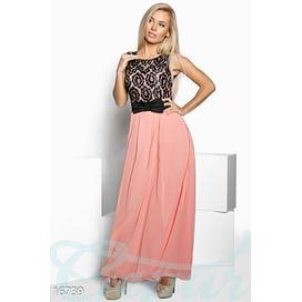 Длинное шифоновое платье Mix