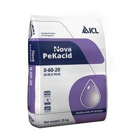 Нова Пекасид 0-60-20 (Nova PeKacid) водорастворимое удобрение 25 кг ICL Specialty Fertilizers