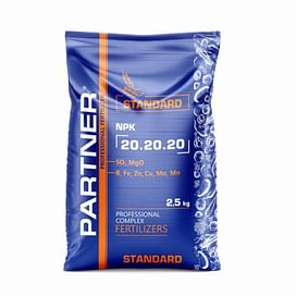 PARTNER STANDARD (Партнер Стандарт) NPK 20.20.20+S+ME+MgO комплексное удобрение 2,5 кг; 25 кг Partner