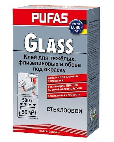 Клей Pufas EURO 3000 Glass для стеклообоев и обоев под окраску