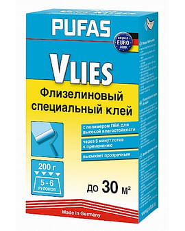 Клей обойный Pufas EURO 3000 специальный флизелиновый клей 200