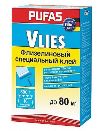 Клей обойный Pufas EURO 3000 специальный флизелиновый клей 500
