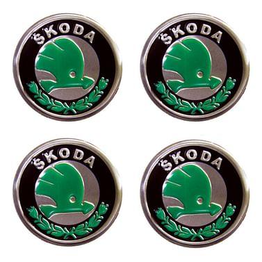 Наклейки на колпаки Skoda 90 мм Kenguru