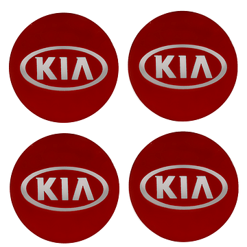 Наклейки на колпаки KIA 90 мм Kenguru