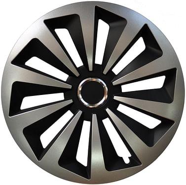 Колпак колесный fox (серебристо-черный) r15