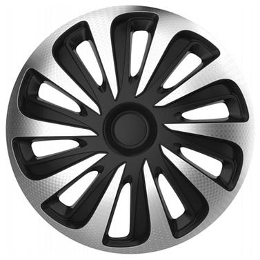 Колпак колесный caliber carbon (серебристо-черный) r16