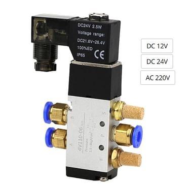 Клапан пневмораспределитель 4V110-06 1/8 воздушный электромагнитный Kenguru