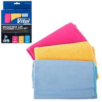 Набор тряпок микрофибра VSC3030-3 (VSC3030-3) Vitol