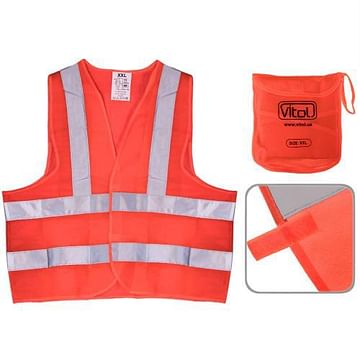 Жилет безопасности светоотражающий (orange) 116 Or XXL (ЖБ004) Vitol