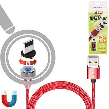 Кабель магнитный PULSO USB - Lightning 2,4А Vitol