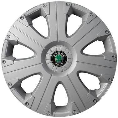 Колпак колесный Ultra R15 Skoda Серый Kenguru Ultra