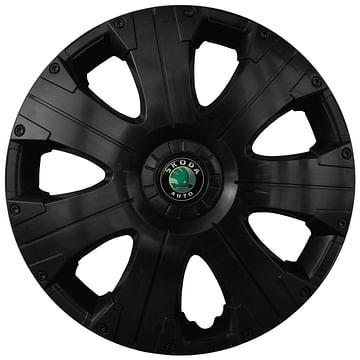 Колпак колесный Ultra R15 Skoda Черный Kenguru Ultra