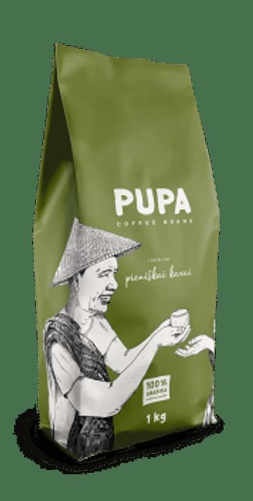 Кофе PUPA для кофе с молоком в Зернах Kavos Bankas