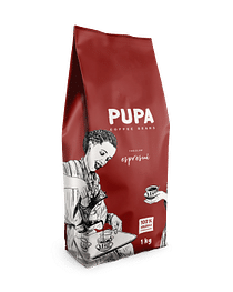 Кофе PUPA В Зернах, Espresso Kavos Bankas