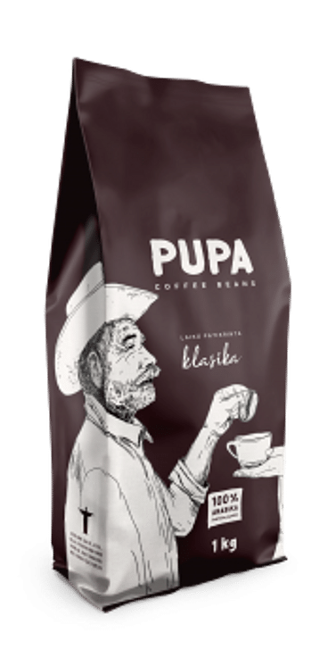 Кофе PUPA В Зернах,Классический Kavos Bankas