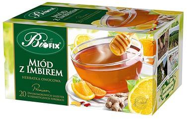 Фрутовый чай Мед с Имбирем, Премиум biofix