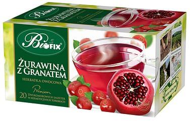 Фруктовый чай Клюква с Гранатом, Премиум biofix