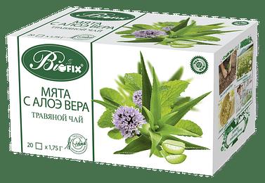 Мята с Алоэ Вера Травяной ФитоЧай, 20 x 1,75 гр biofix