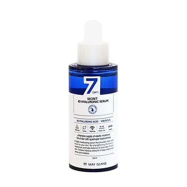 Сыворотка с 4 видами гиалуроновой кислоты MAY ISLAND 7 Days Secret 4D Hyaluronic Serum, 50мл.