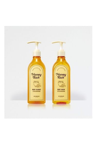 Медовый гель для душа / эссенция для тела SKINFOOD Honey Rich Body Wash/Essence, 430мл.